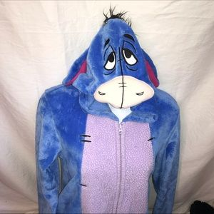 Disney Eeyore onesie footless and front zipper